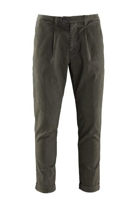Lack pants microprinted stretch cotton