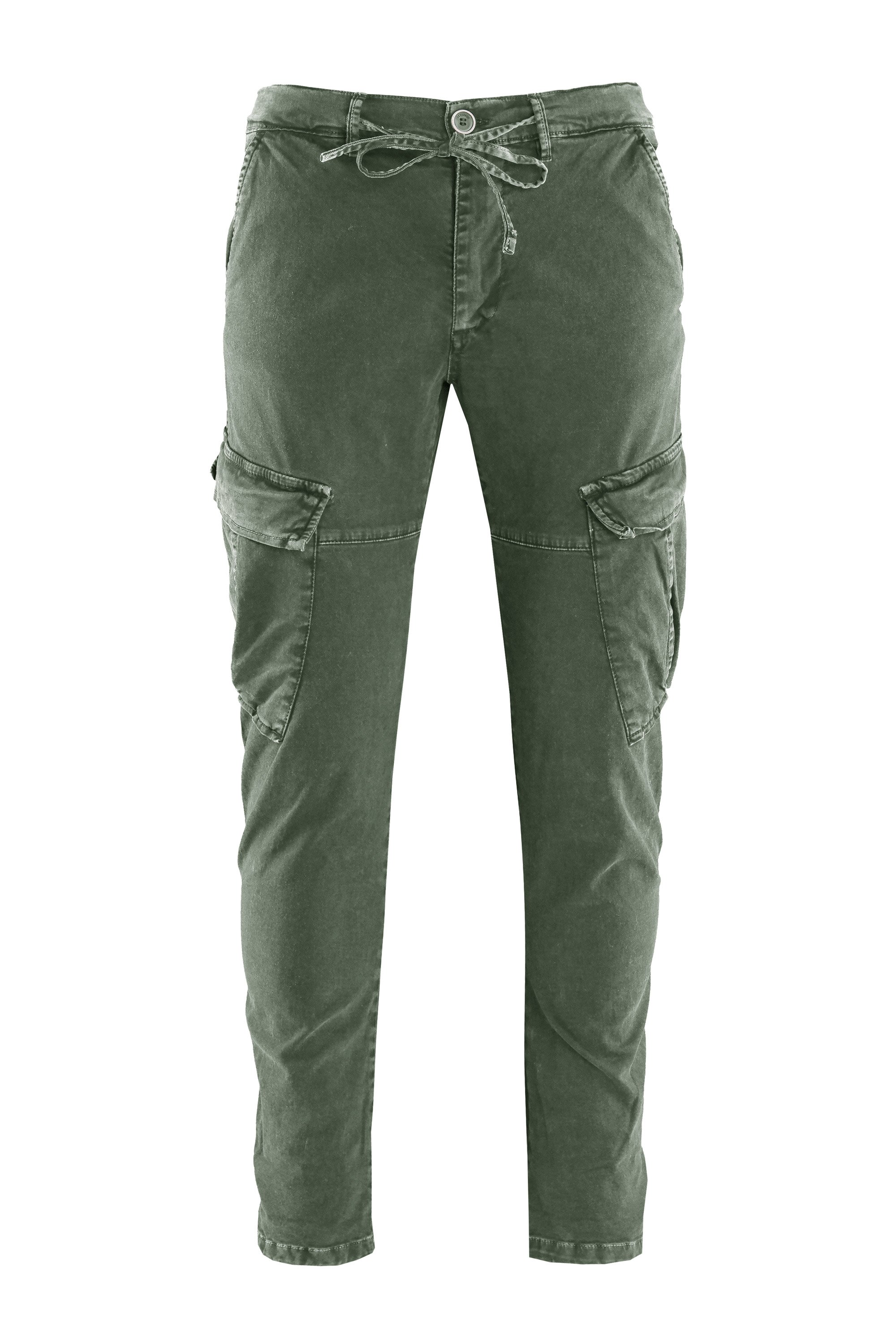 Nam pants cotton gabardine cargo pockets
