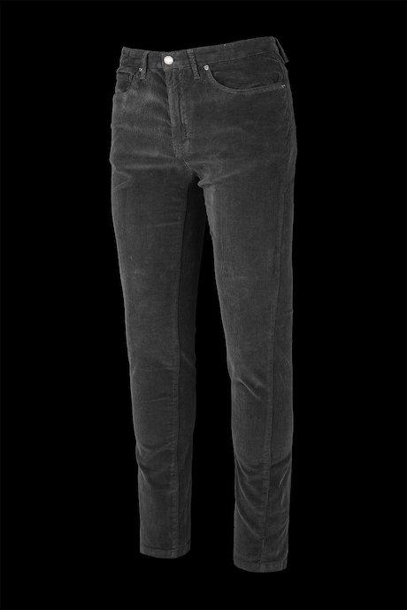 Velvet five pockets trousers
