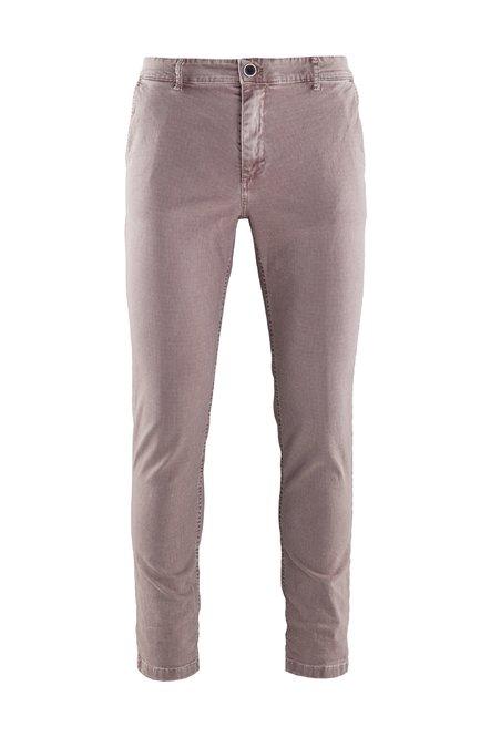 Spy pants check microprinted cotton