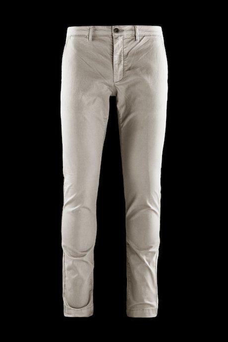 Pantaloni in Cotone Stretch con Tasche Chino