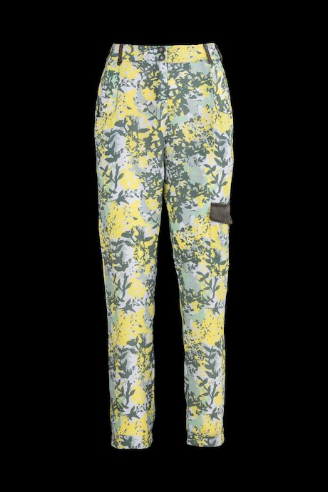 Trousers camo-flowers print