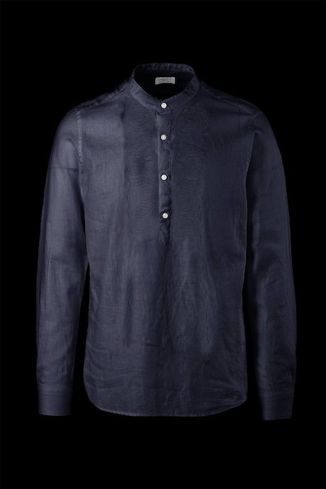 Cotton-linen shirt with embroidery