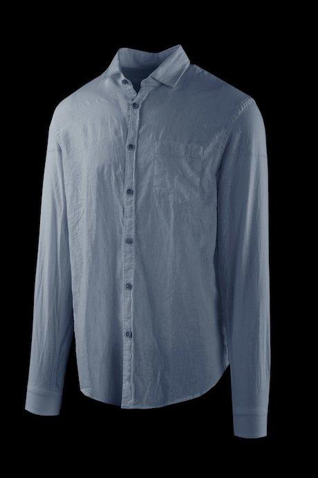 Shirt in linen-cotton