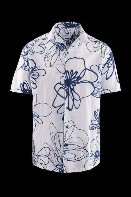 Hawaiian shirt in cotton muslin
