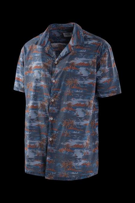 Camicia Hawaiana in Mussola di Cotone