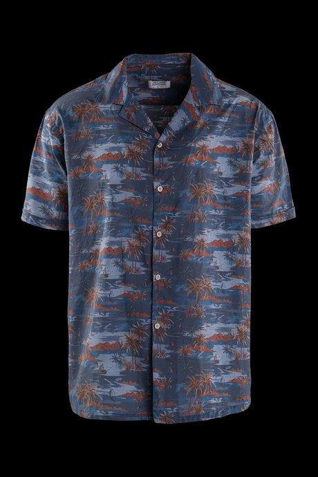 Hawaiian shirt in cotton muslin