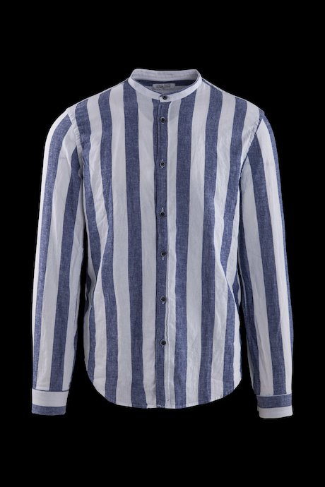 Striped shirt in linen-cotton