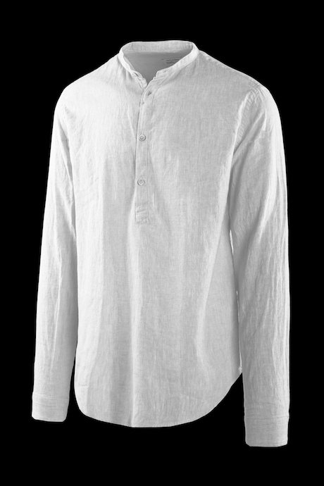 Shirt in linen-cotton guru collar