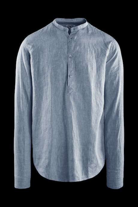 Shirt in linen-cotton guru collar