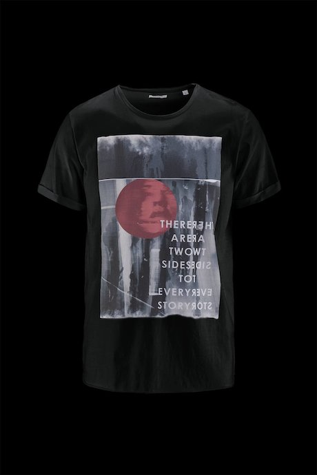 Man's T-shirt Red Moon