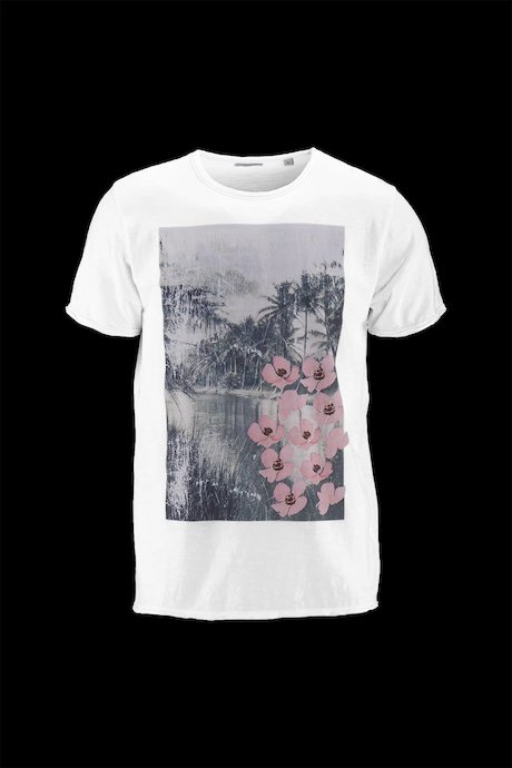Man's T-shirt Flowers