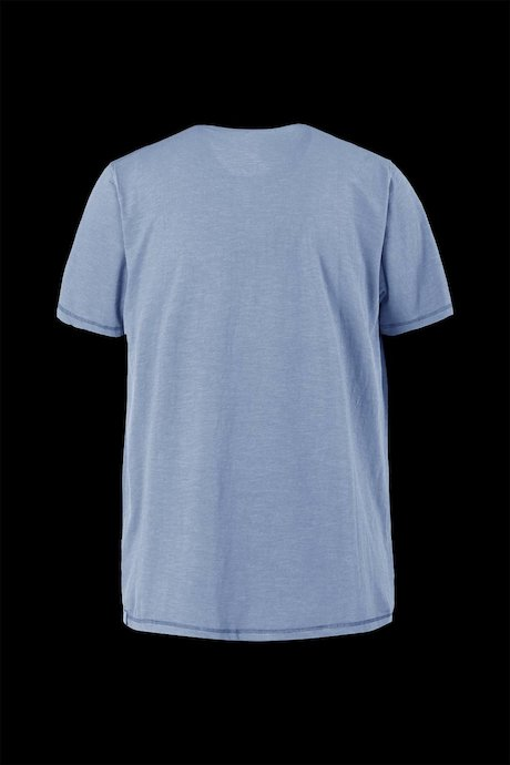 Flamed cotton T-shirt with small pocket