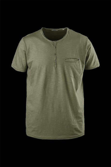 T-shirt with buttons and small pocket
