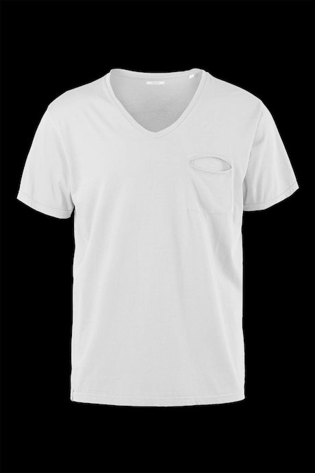 Cotton T-shirt V neck