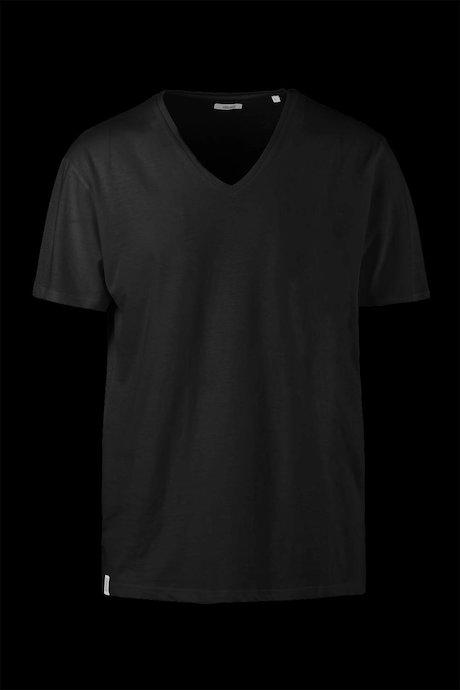 T-shirt Cotone e Lino Scollo a V