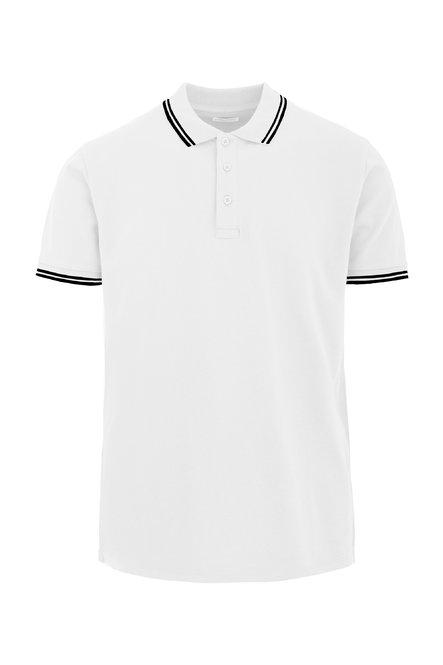Kontrast-Poloshirt mit drei Knöpfen