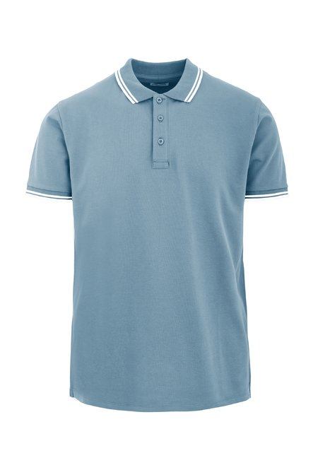 Three buttons polo shirt contrasting trims