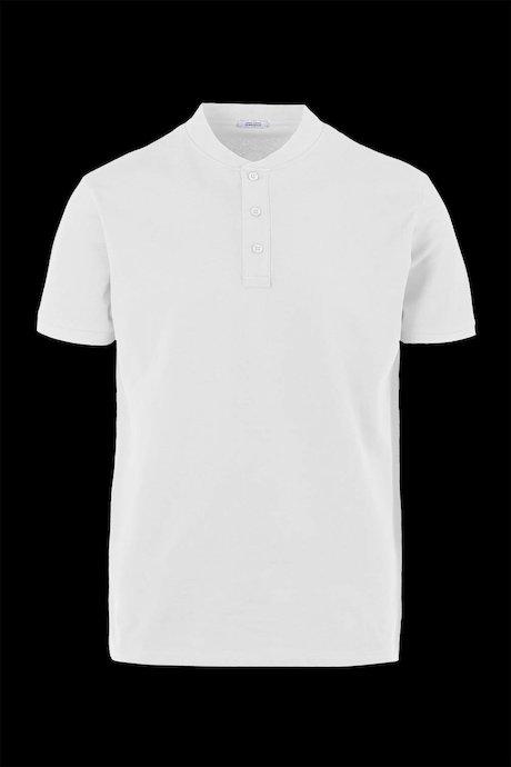 Mandarin neck polo shirt