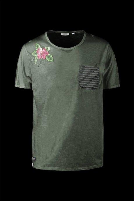 T-shirt con Taschino Rigato