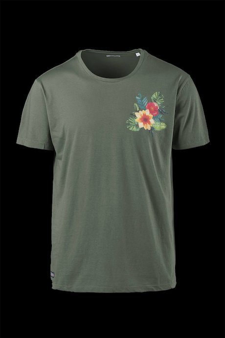Cotton T-shirt floral print