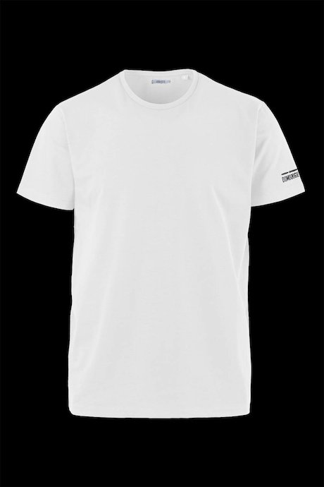 Stretch cotton T-shirt printed logo