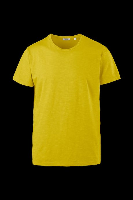 Basic T-shirt flamed cotton