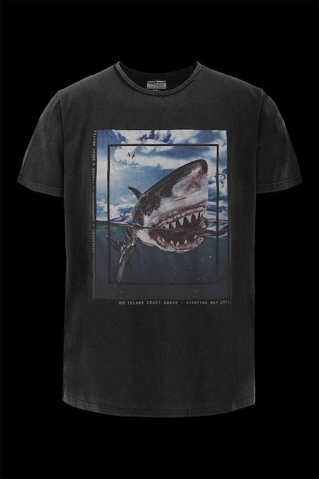 T-shirt con Stampa Shark