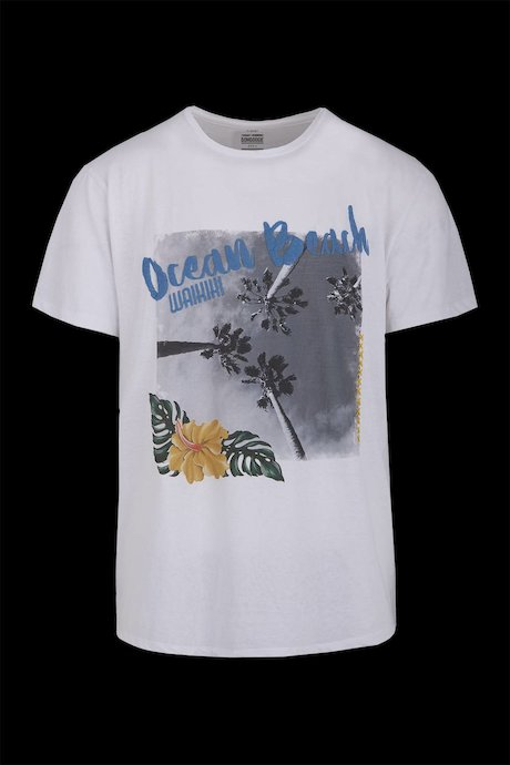 Cotton-linen T-shirt Ocean Beach