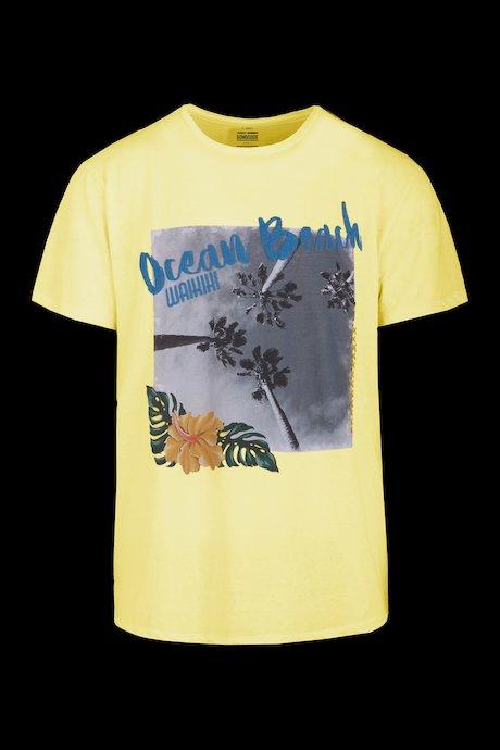 Cotton-linen T-shirt Ocean Beach