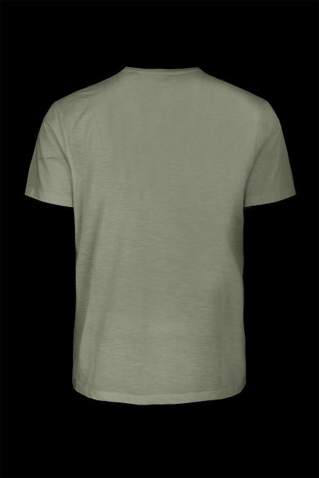 T-shirt with patterned pocket