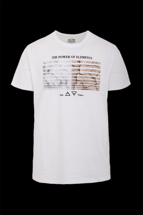 T-shirt con Stampa Elements