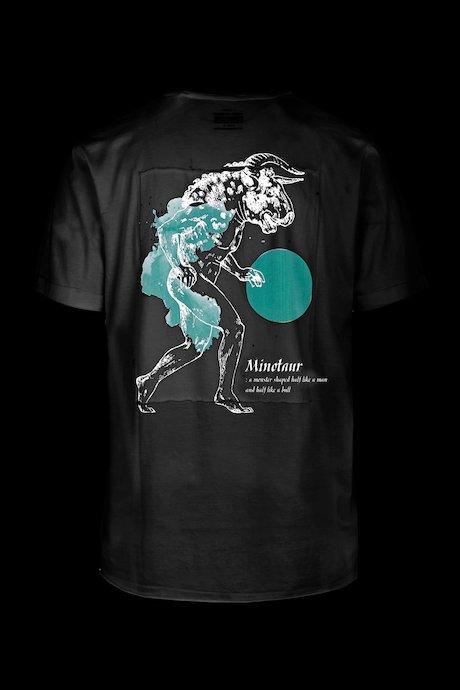 T-shirt con Stampa Minotauro