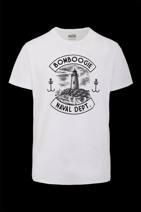 T-shirt con Stampa Naval Dept