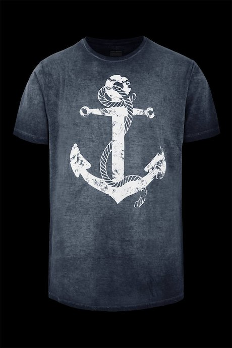 T-shirt cold dyed Anchor print