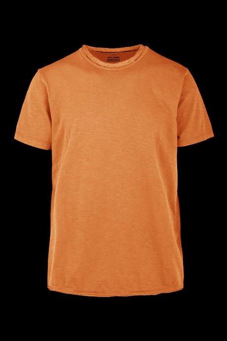 T-Shirt mit doppeltem Rundhalsausschnitt