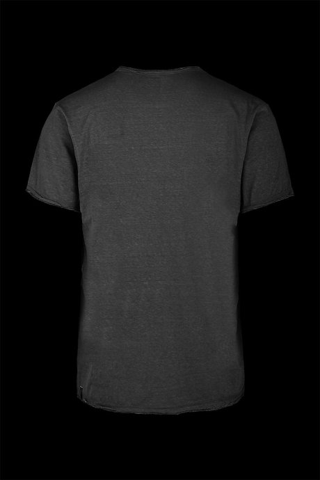 V collar T-shirt doubled effect