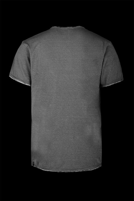T-shirt Scollo V collar and buttons