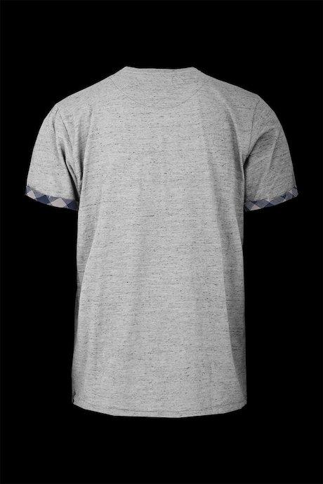 T-shirt con Risvolto Check
