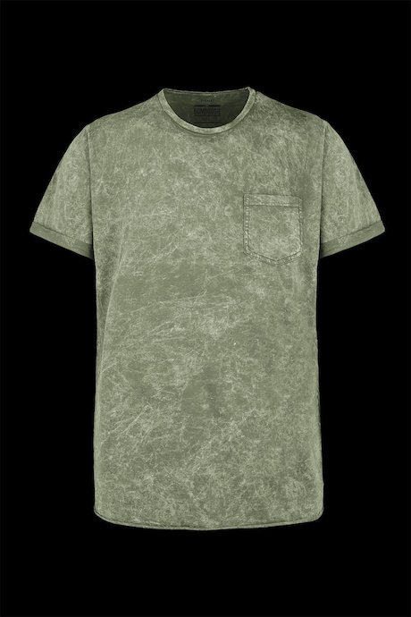 T-shirt marbled effect with pocket