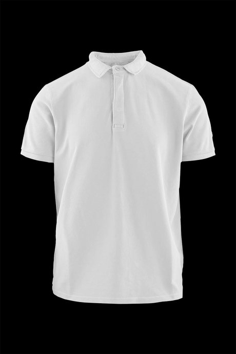 Polo T-shirt in cotton piquet with hidden buttons