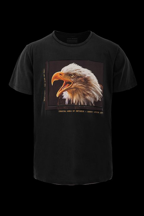 T-shirt con Stampa Eagle