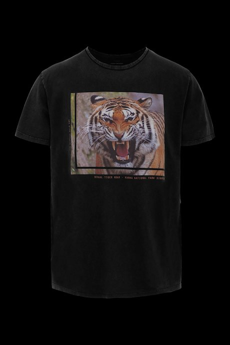 T-shirt con Stampa Tiger