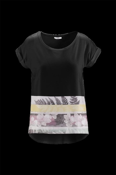 Woman's T-shirt Wide Collar