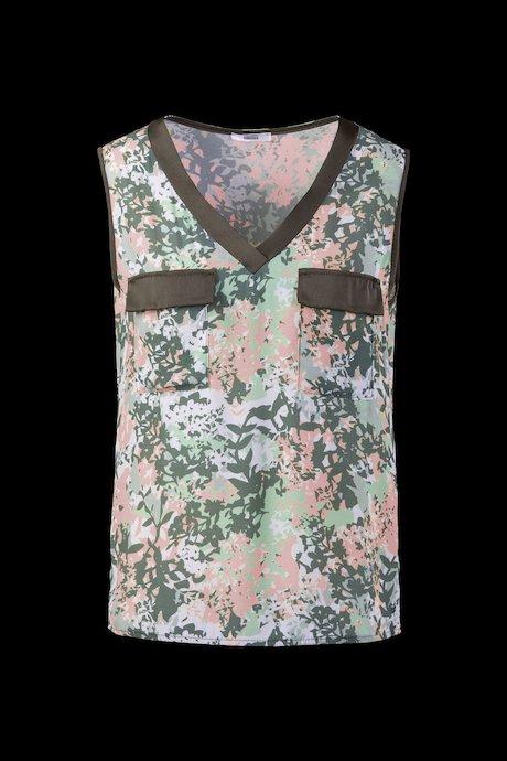 Camo-Flower Bluse ohne Ärmel