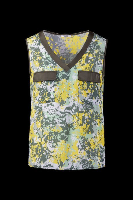 Blouse camo-flower fabric