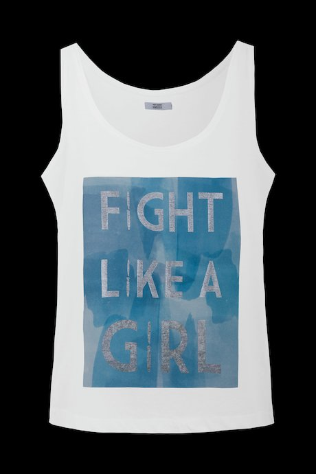 Tanktop mit Fight like a Girl Druck