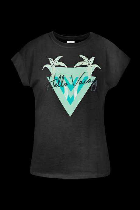 T-shirt Hello Vacay print