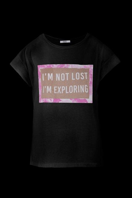 Ärmelloses Glitter T-Shirt