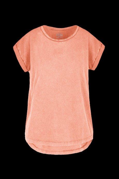 Basic T-Shirt im Kleidungsstück gewaschen
